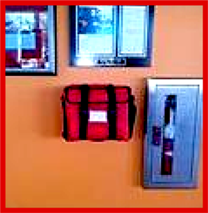 Wall Mounted Trauma Kit, Trauma Kwik, Trauma Red Kit, Employee Safety Training, medical emergency, medical emergency,